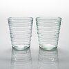 Aino aalto, a set of 12 late 20th century drinking glasses for iittala.