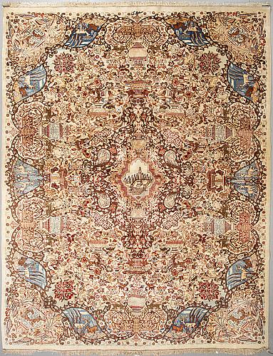A carpet, kashmar, ca 500 x 300 cm.
