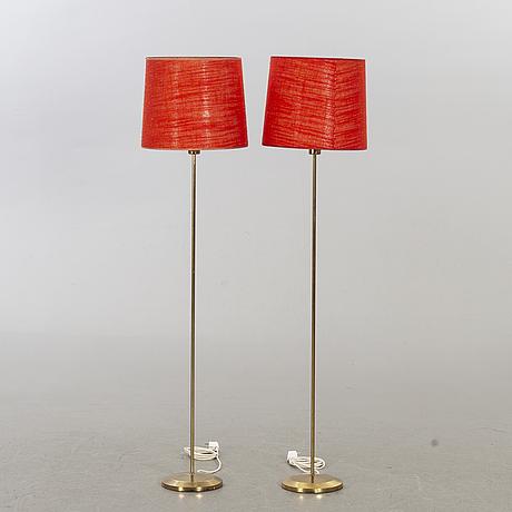Golvlampor, ett par, 1960-tal.