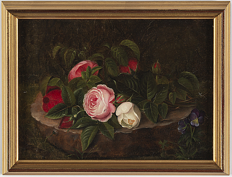 Unknown artist, 19th century, oil on canvas, signed i. riedel 1869.