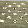 Matto, flat weave, ca 214-216,5 x 152,5-155 cm, sweden first half of the 20th century.