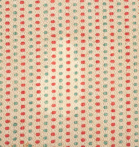 Matta, slätväv, ca 334,5-337,5 x 296-300,5 cm, sverige/finland, 1900-talets förra hälft.