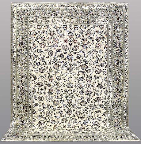 A carpet, kashan, 383 x 274 cm.