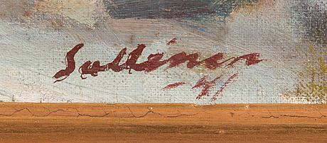 Tyko sallinen, olja på duk, signerad och daterad -41.