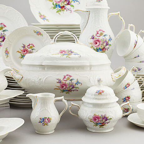 A rosenthal 'sanssouci' porcelain part coffee and dinner service, germany, 20th century (76 pieces).