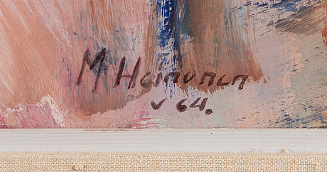 Mauri heinonen, oil on canvas, signed and dated -64.