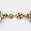 Estrid ericson, a pewter necklace, 'etruskiska'  svenskt tenn.