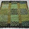 """Marianne richter, a rug, machine made, """"alvastra, grön"""", ca 132 x 91 cm, Östergyllen."""