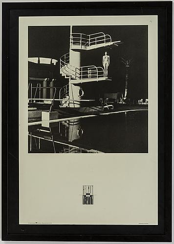 Helmut newton, affisch, helmut newton private collection, 1984.