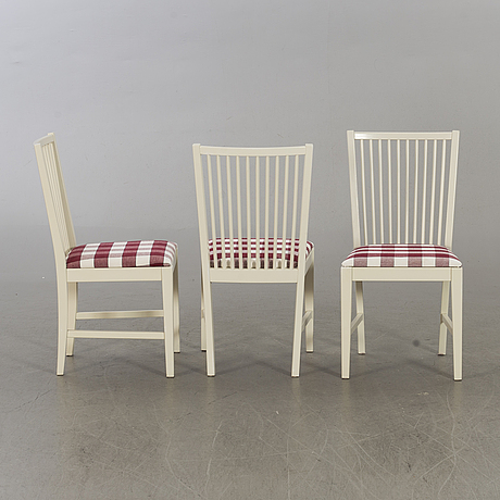 "Six 1980's ""stockholm"" karin mobring chairs for ikea."