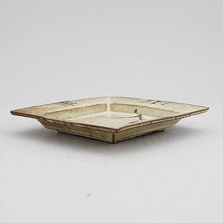 A japanese stoneware vase, attributed to wakao toshisada.