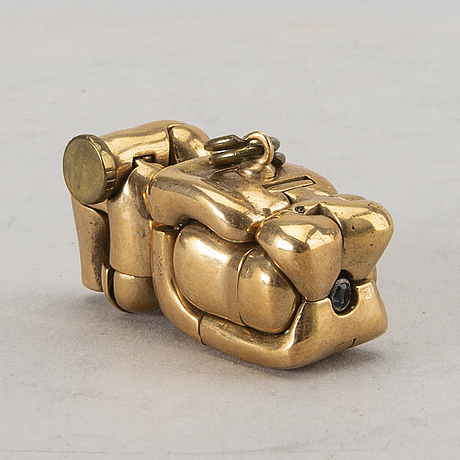 Miguel ortiz berrocal, a bronze pendant/sculpture.