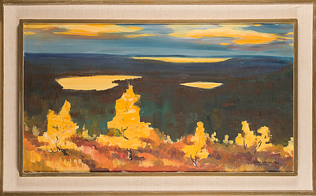 Unto ahola, oil on canvas, signed and dated 1966.
