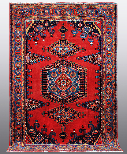 Matto, wiss signed sharbani.  327 x 227 cm.