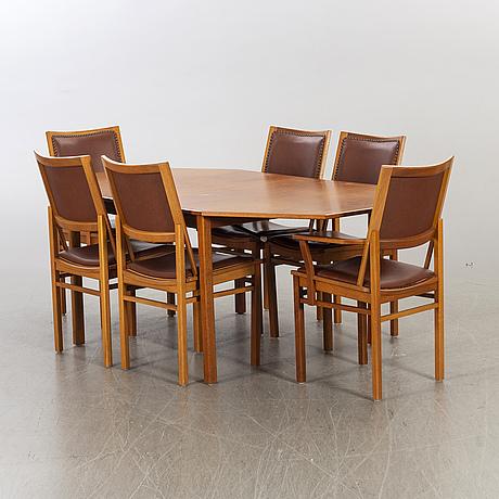 A dinner table mid 20th century.