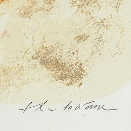 Theo tobiasse, färglitografi, signerad 163/180.