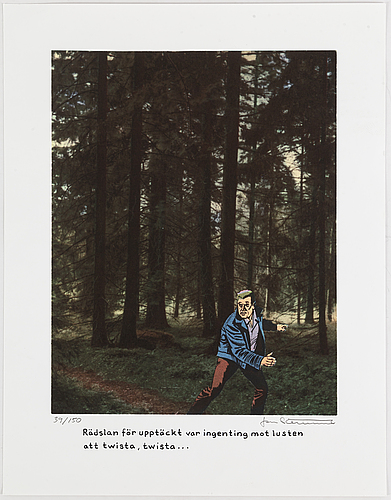 Jan stenmark, lithograph in colours, signed 39/150.