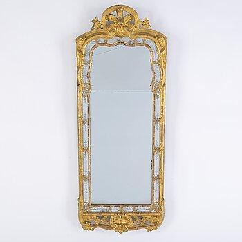 An 18th century rococo mirror.