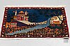 A rug, semi-antique kashan, ca 56,5 x 80 cm.
