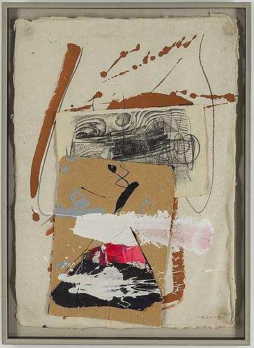 Jan naliwajko, mixed media with collage, j. naliwajko and dated 1992.5.