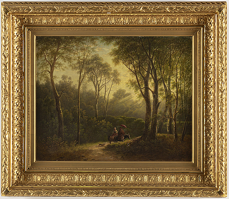 Theodor billing, oil on canvas, signed billing.