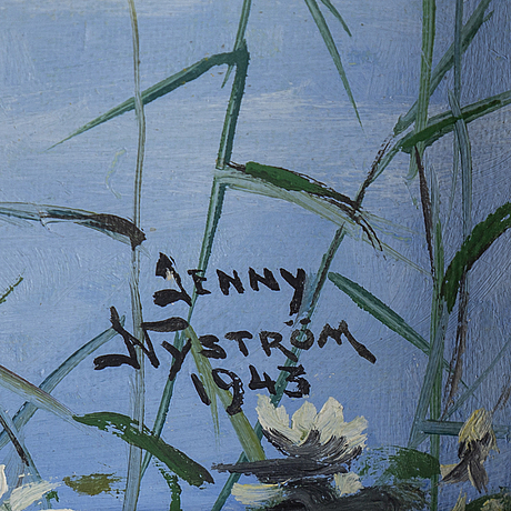 Jenny nystrÖm, oil on canvas, signed and dated 1943.