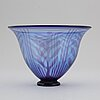 Eva englund, a graal glass bowl, orrefors, signed.