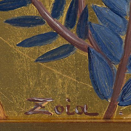 Zoia krukovskya lagerkrans, oil on panel, signed.