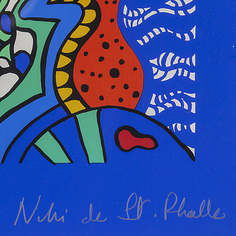 Niki de saint phalle, silkscreen, signed and numbered 41/150.