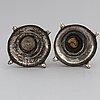 A pair of silver candlesticks, circa 1900.