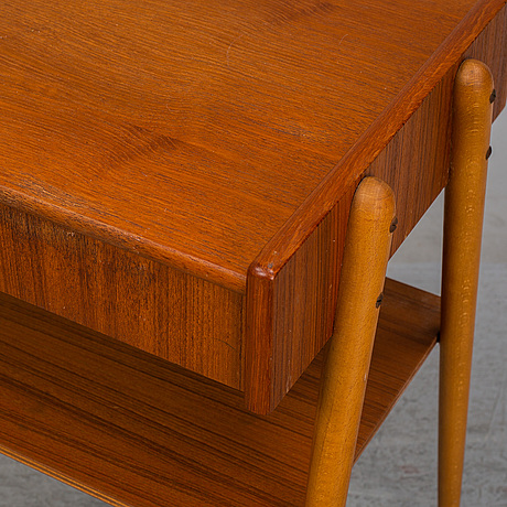 A 1950/60's pair of teak bedside tables from carlström & co.