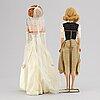 Barbiedockor, 2 st, samt accessoarer, mattel, 1960-tal.