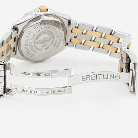 Breitling, wings (100 m/330 ft), chronometre, wristwatch, 37 mm.