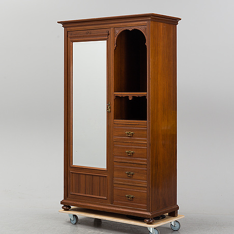 An early 20th century mahogany cabinet.