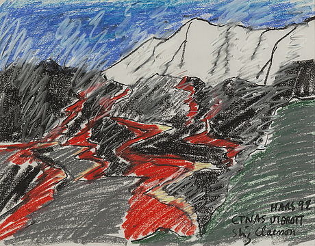 Stig claesson, pastel, signed and dated mars -99.
