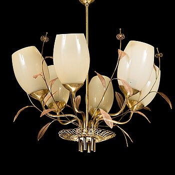 PAAVO TYNELL, a mid-20th-century '9029/6' chandelier for Taito.