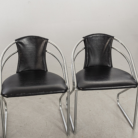 Four second half of the 20th century armchairs.