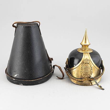 A swedish dragoon nco's helmet 1886 pattern.