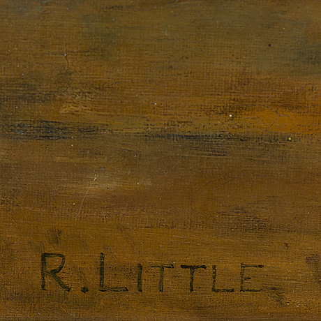 Unknown artist, 19th century, oil on canvas, signed r. little.