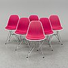 Charles and ray eames, six dsr chairs, vitra, 2012.