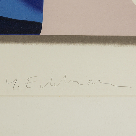 YrjÖ edelmann, litohgraph in colors, signed and numbered 149/150.