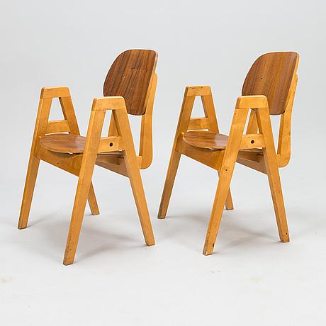 """Ilmari tapiovaara, stolar, 2 st, """"elevstol"""", 1950-tal."""