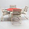 A 1960s/70s five-piece garden suite.
