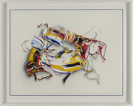 Sven inge hÖglund, acrylic on paper, signed and dated -89.