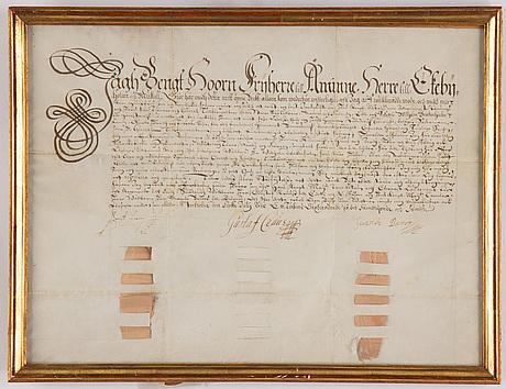 A swedish document, signed stockholm 1615.