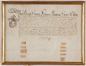 A Swedish document, signed Stockholm 1615.