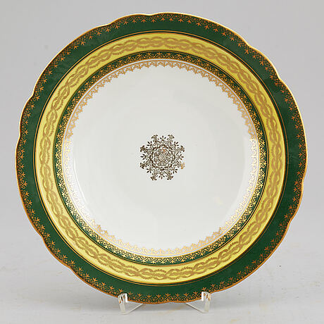 A dessert service, unknown manufactory, 20th century. (49 pieces).