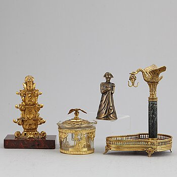 Four decorative objects, 19th/20th Century.