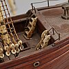 A late 1800's model ship.