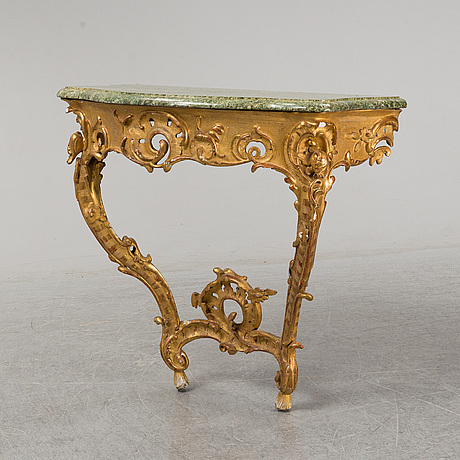 A presumably german rococo consoltable.